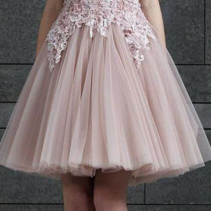 A Line Pink Prom Dress,Cheap Eveni..