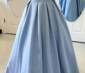 Blue Ball Gown Eveni..