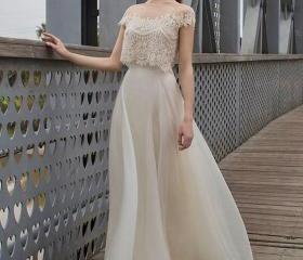 modern wedding dress..