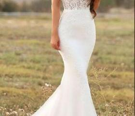 White mermaid long w..