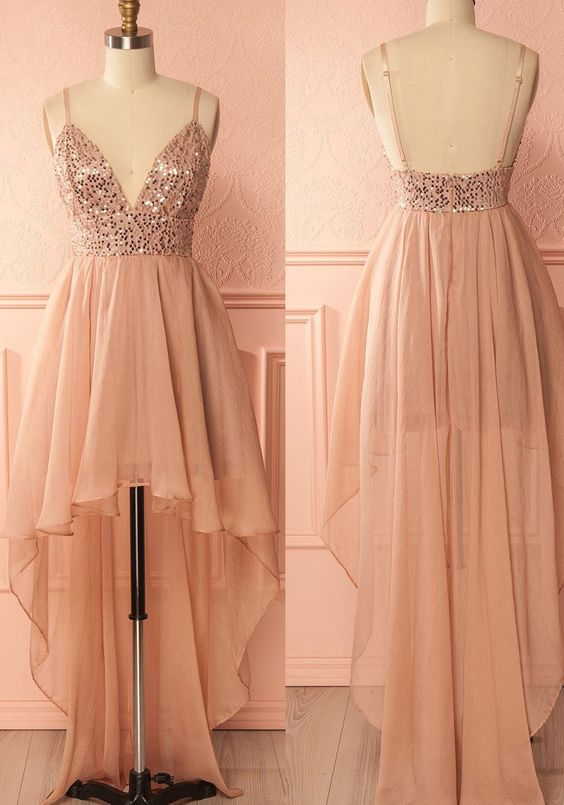 Outlet Spaghetti Strap Prom Homecoming Dress Short Pink Prom Dresses