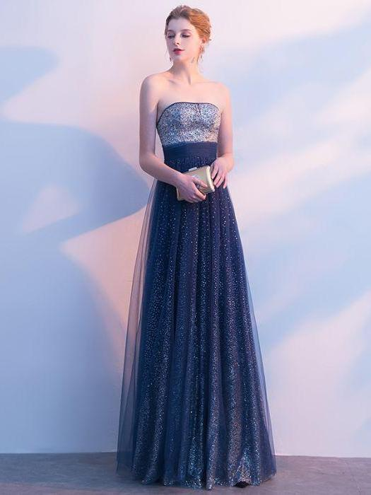 a7ed5cd7e55 Beautiful Prom Dresses Strapless A-line Sexy Ombre Prom Dress Long Evening  Dress