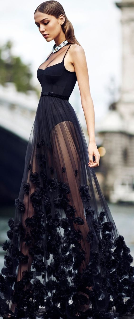 A Line Black Prom Dress,Cheap Evening Dress,Custom Made,Party Gown