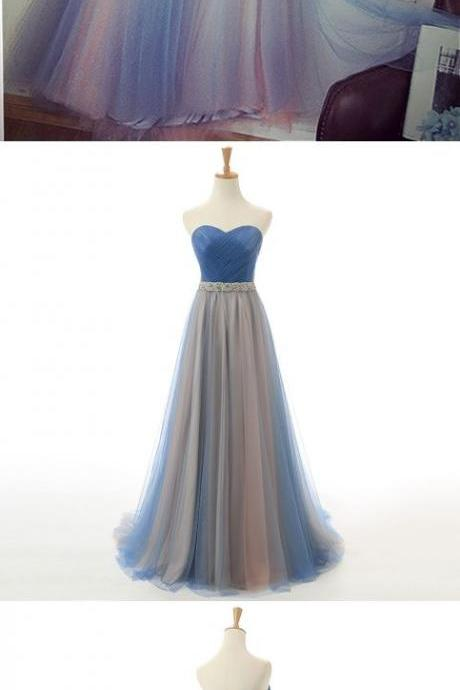 Beautiful Prom Dresses Sweetheart Tulle Long Prom Dress/Evening Dress