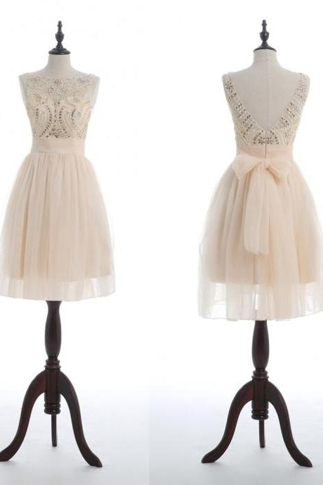 Short Homecoming Dress, Cute Homecoming Dress, Tulle Homecoming Dress, Lace Junior School Dress, Graduation Dress