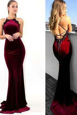 Formal Evening Dress, Mermaid Long Prom Dress, Red Prom Dress