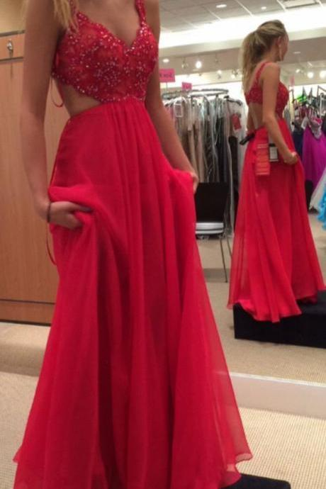 Sexy prom dresses,backless prom dress,red prom dresses,open back evening dresses