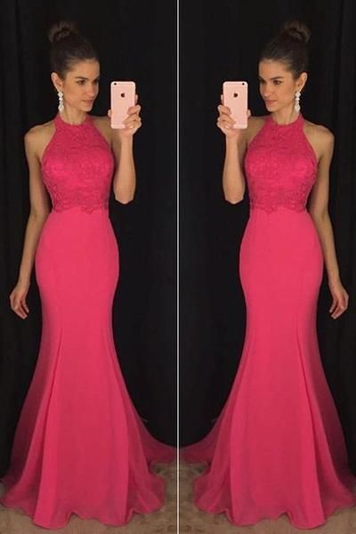Evening Prom Dresses, Pink Mermaid Long Party Prom Dress,Formal Prom Dresses