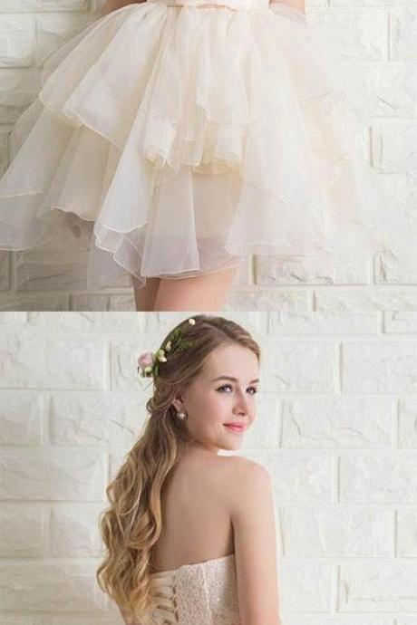 Sweetheart Tulle Lace Homecoming Dresses Short Prom Dresses,Custom Made,Party Gown,Evening Dress