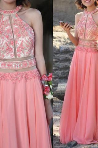 Pink Prom Dresses,chiffon Prom Gowns,Pink Prom Dresses,Long Prom Gown, Formal Women Dress ,Party Gown,Evening Dress,Cheap Prom Dress