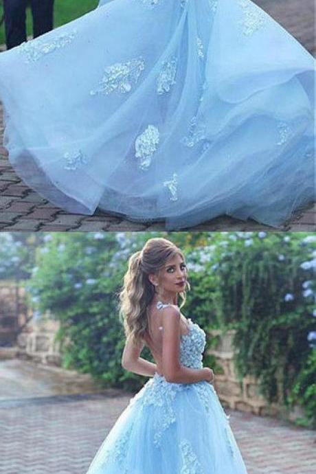 Wonderful Tulle & Organza Jewel Neckline A-line Prom Dress With Beaded Lace Appliques,Long Party Gowns,Custom Made,Party Gown,Cheap Prom dress