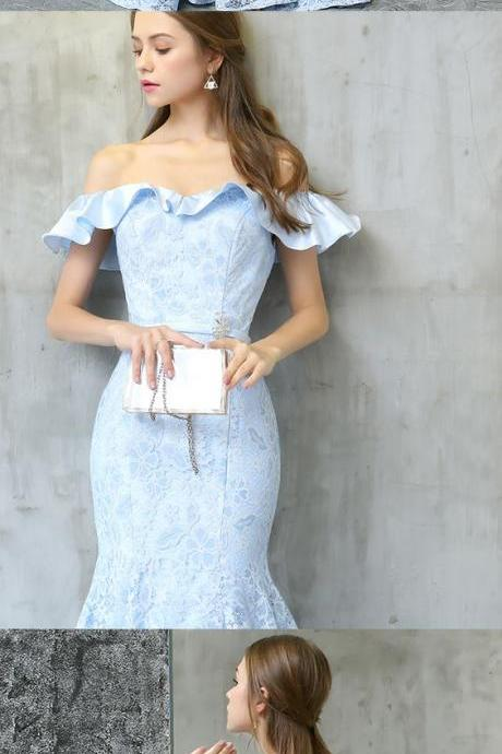 Off Shoulder Prom Dress, Mermaid Lace Prom Dress,Formal Prom Dress,Custom Made,Party Gown,Cheap Prom dress