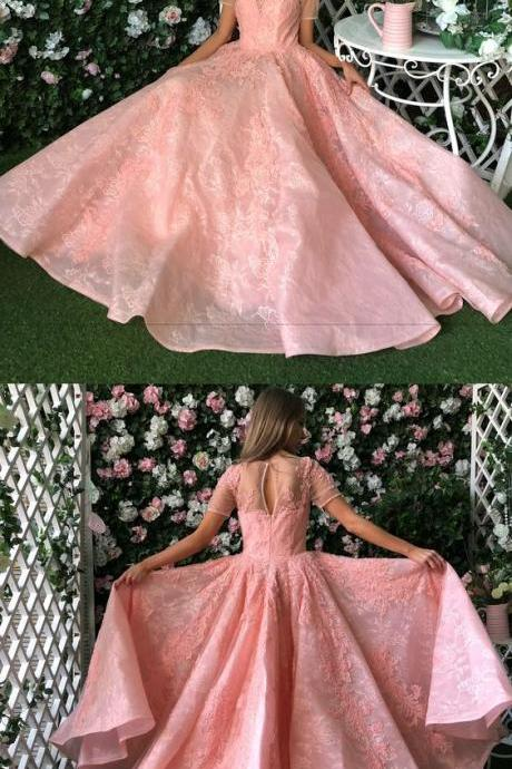 Pink Princess Prom Dress, High Quality Ball Gown, Long Party Dresses,Formal Evening Dress,Party Dress,Custom Made,Party Gown,Cheap Evening dress,Custom Made,Party Gown,Cheap Evening dress