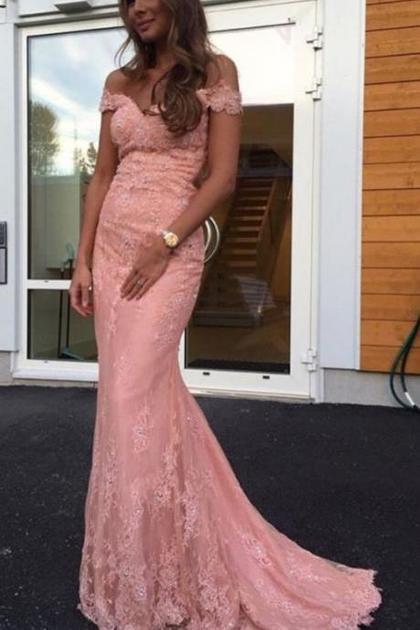 Mermaid Lace Prom Dress, Long Formal Dresses,Custom Made,Party Gown,Cheap Evening dress