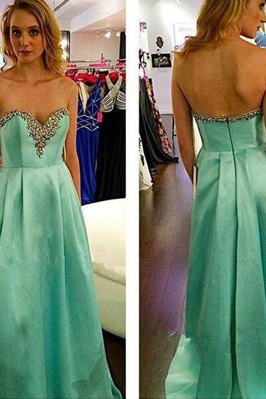 Charming Prom Dress,Beading Prom Dress,Sweetheart Prom Dress,Satin Prom Dress ,Custom Made,Party Gown,Cheap Evening dress