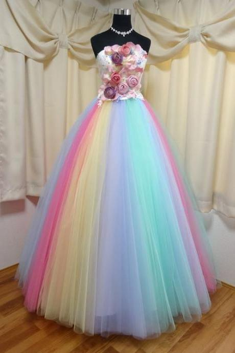Sweetheart Ball Gown Beading Dress,Custom Made,Party Gown,Cheap Prom Dress