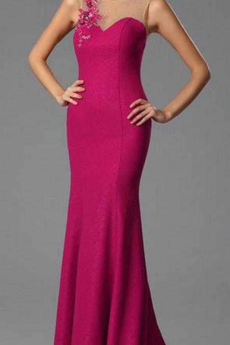 Trumpet Embroidery Applique Evening Gown ,Formal Dress,Evening Dress