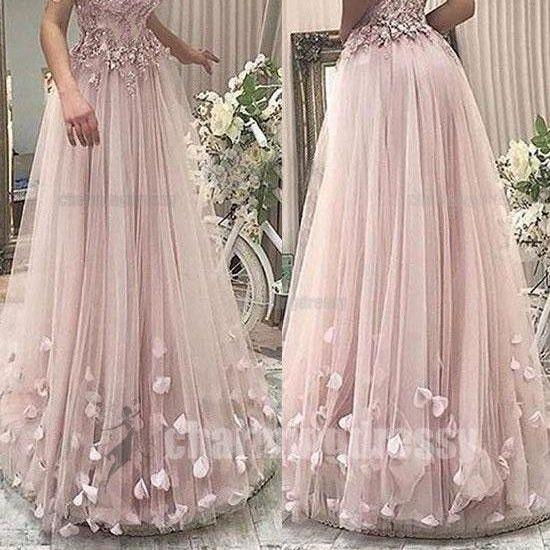 Off Shoulder Pink Elegant Formal Pretty Unique New Arrival Charming Floor-Length Prom Dresses,Custom Made, Party Gown,Cheap Prom Dress