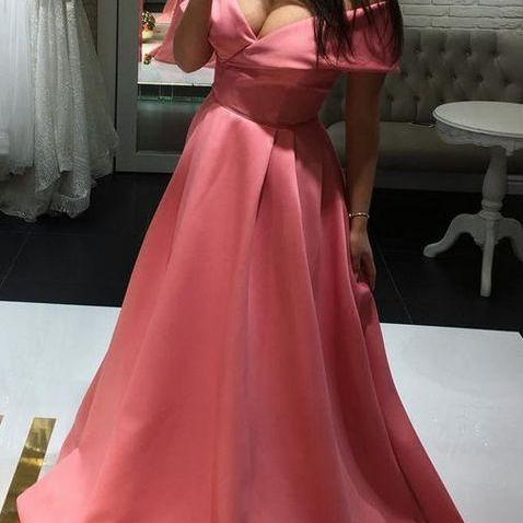 Sexy Off Shoulder Prom Dress, Long Prom Dresses,Cheap Evening Dress,Custom Made,Party Gown